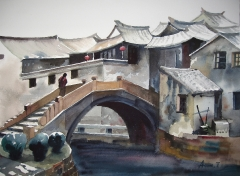 16x12-ancient-bridge-in-china (SOLD)